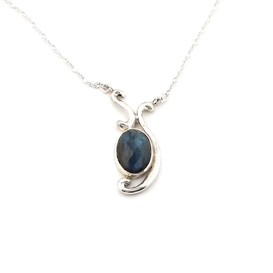 product silver oval bloomingoak labradorite pendant a design