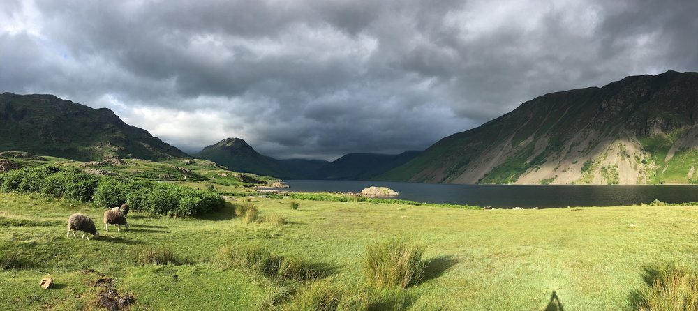Image by Chris Neufeld-Erdman, Wastwater, with a view toward Scafell Pike, Lake District, UK