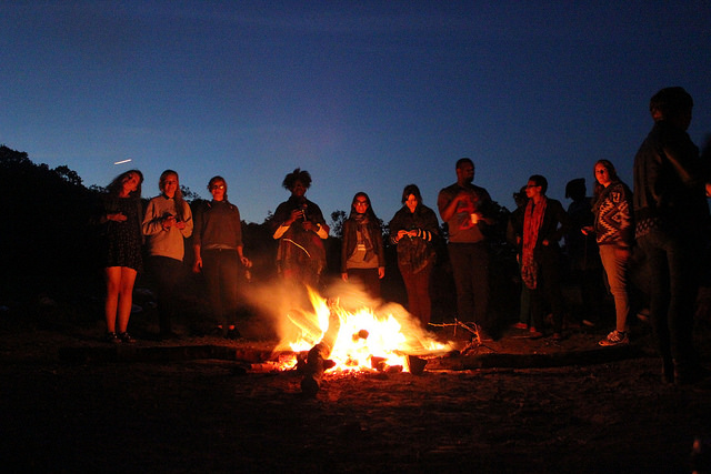 Campfire time at Bootcamp 4
