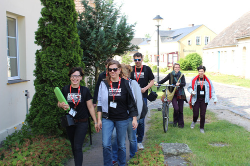 Anne and her team on their way to Bootcamp awesomeness