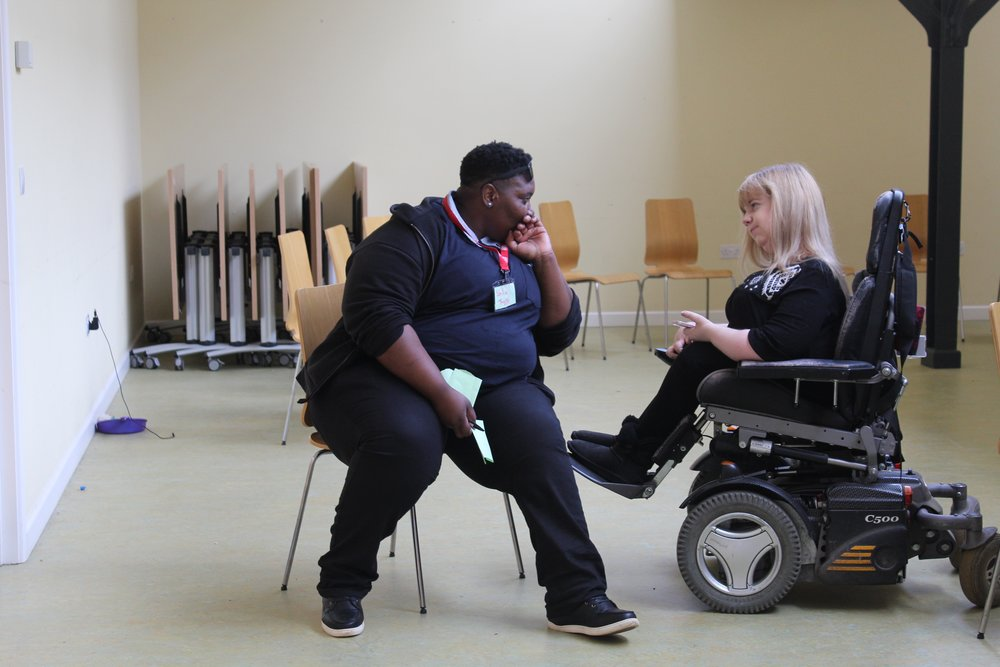 Both Shaun (left) and Lauren are disability campaigners. Shaun campaigns in Glasgow for people with Ehlers-Danlos Syndrome and Lauren campaigns for young people with disabilities. Both participated in Bootcamp 7 and later came back to help facilitate Bootcamp 9.