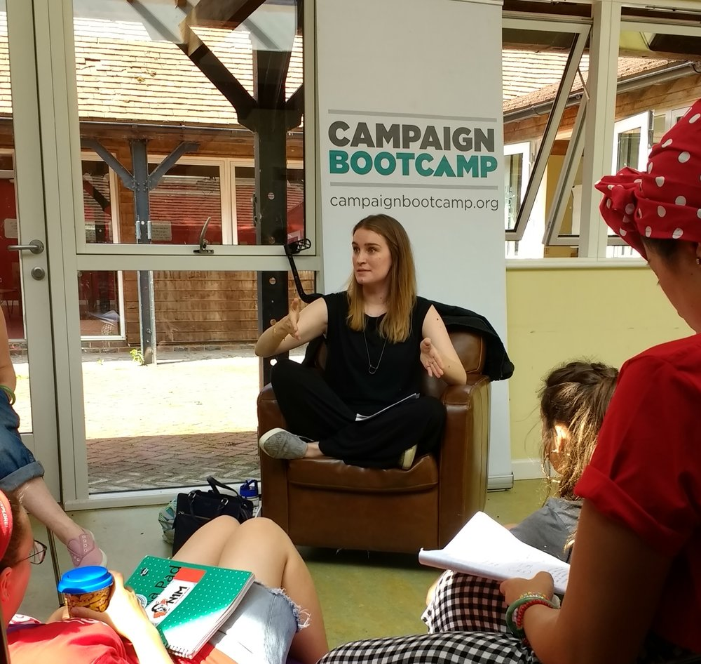 Becca Bunce, who attended Bootcamp 3, is co-founder of IC Change, which campaigns to get the UK government to ratify the Istanbul Convention to prevent and combat violence against women. Here she is sharing advice on messaging and media with Bootcamp 10.