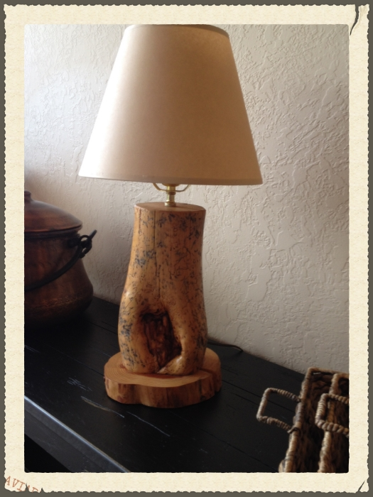 Wooden Lamp.