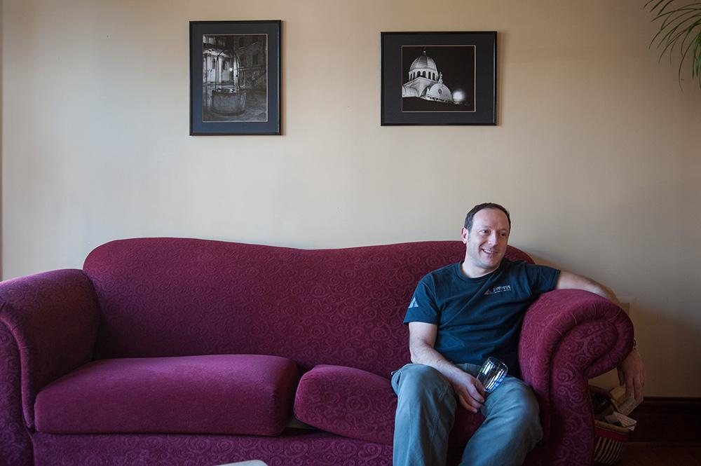 Mladen Ocko in his living room. Portland, Oregon