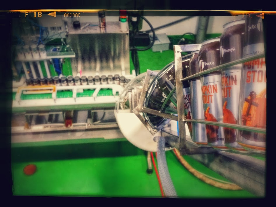 The canning line at Cape Ann Brewing.