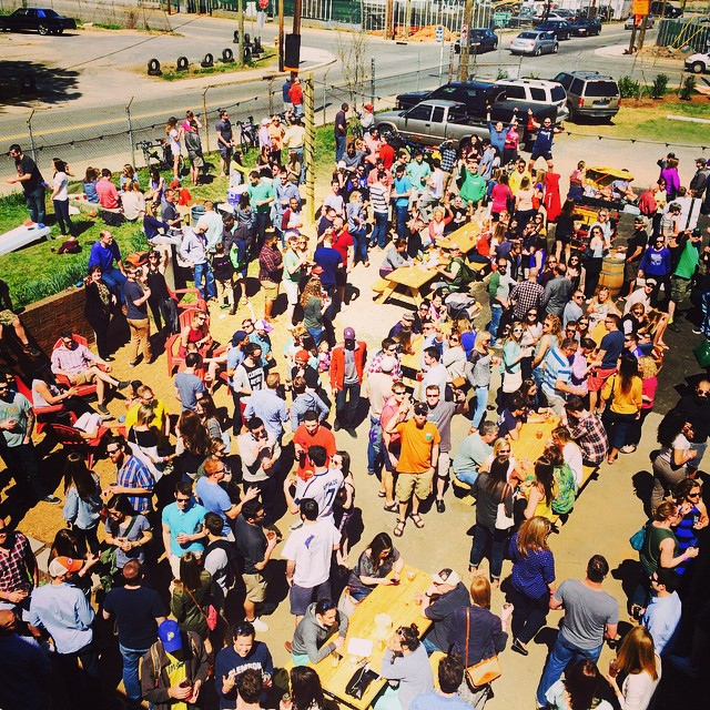 Opening day at the new brewery location on April 4th, 2015. Party time.