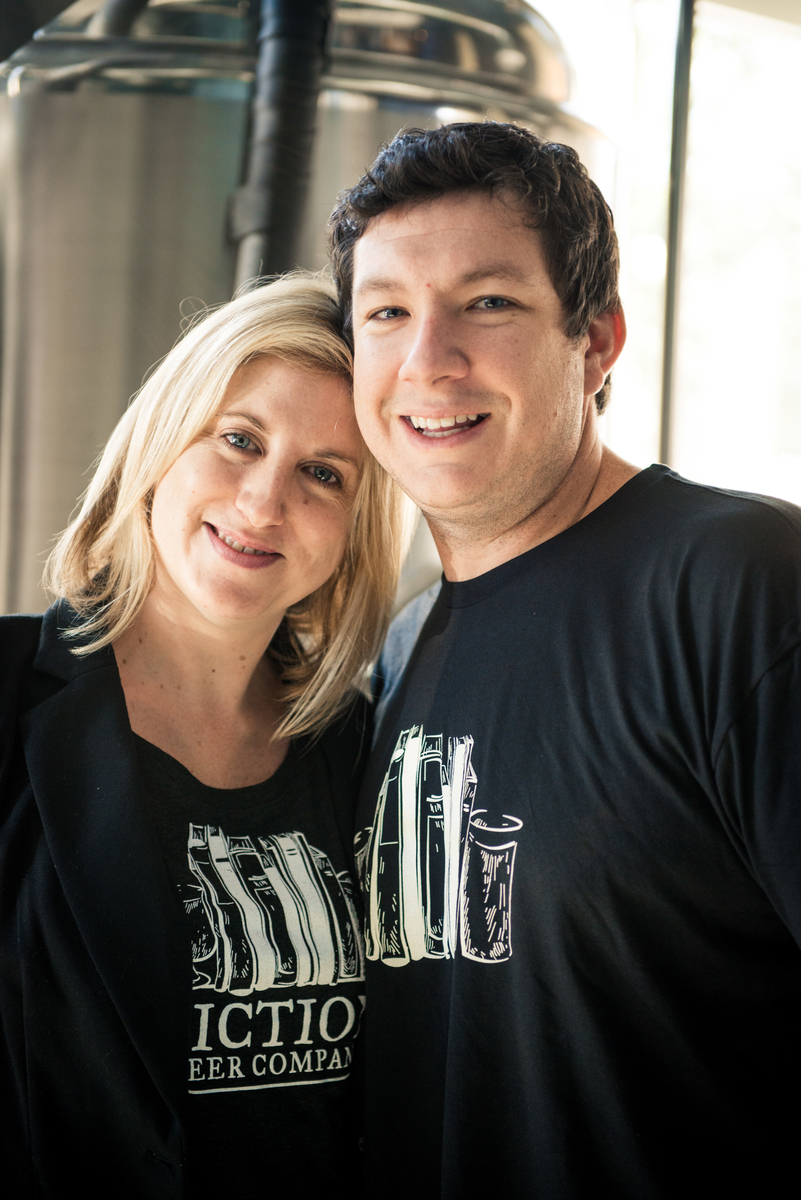 The Husband/Wife team that started Fiction Beer - Ryan and Christa Kilpatrick