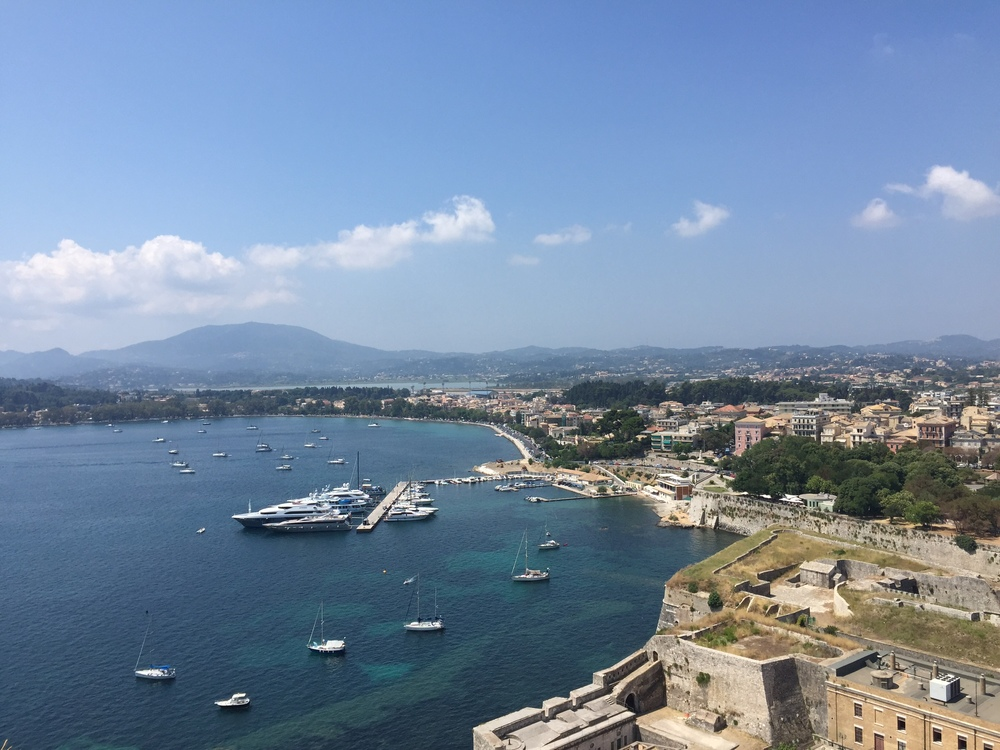 The port of Corfu town