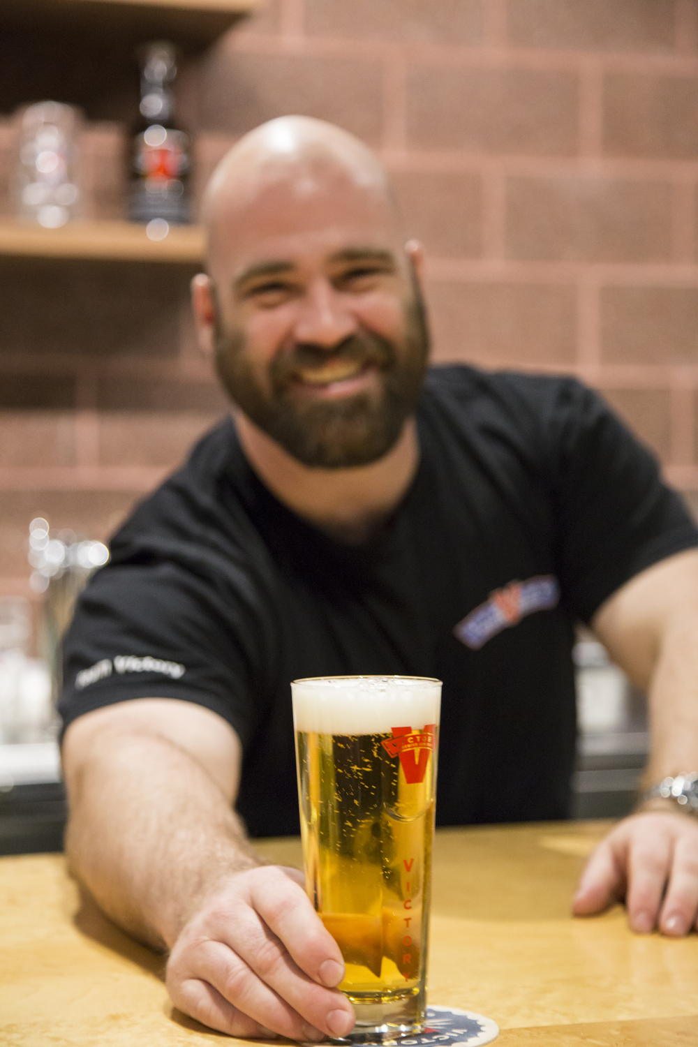 Bartender serving VBC beer (1).JPG