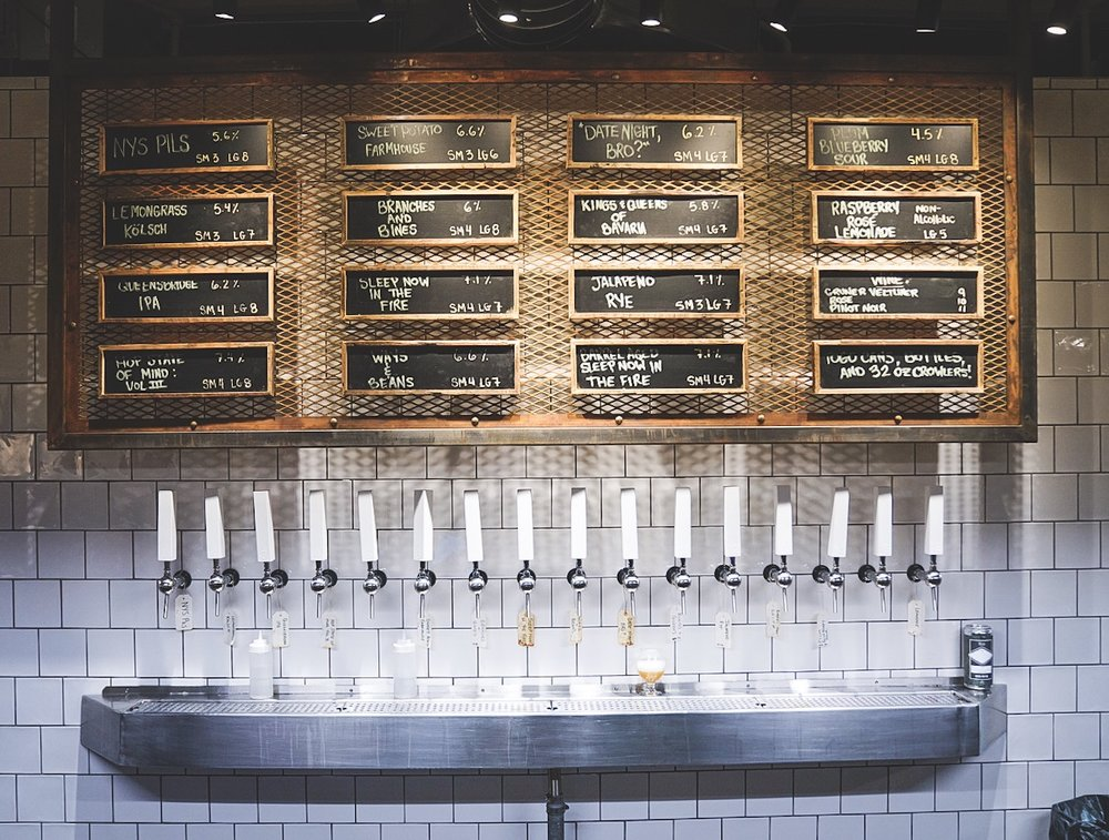 Big Alice Brewing Company opened their second taproom location (taps pictured here) in Industry City, Brooklyn. They exemplify the hyper-local love and passion that exists in this business.