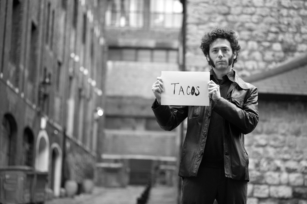 JDD, behind the Savory Hotel where Dylan held his less cibarious cue cards. January 2013. Photo by  Annabel Vere.