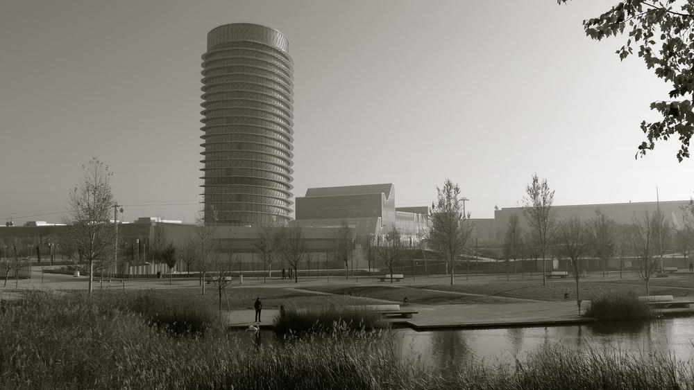 Torre del agua y cisne