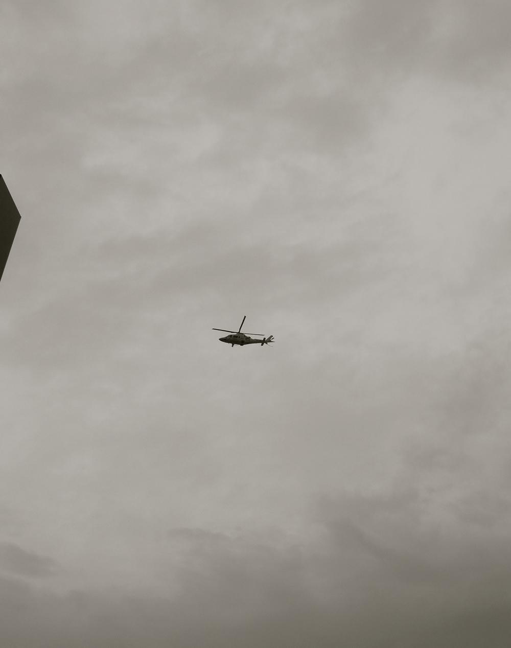 Vía crucis helicóptero