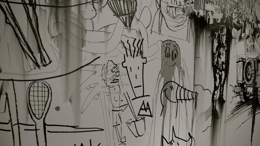 Antropomorfos graffiti Centro Historias
