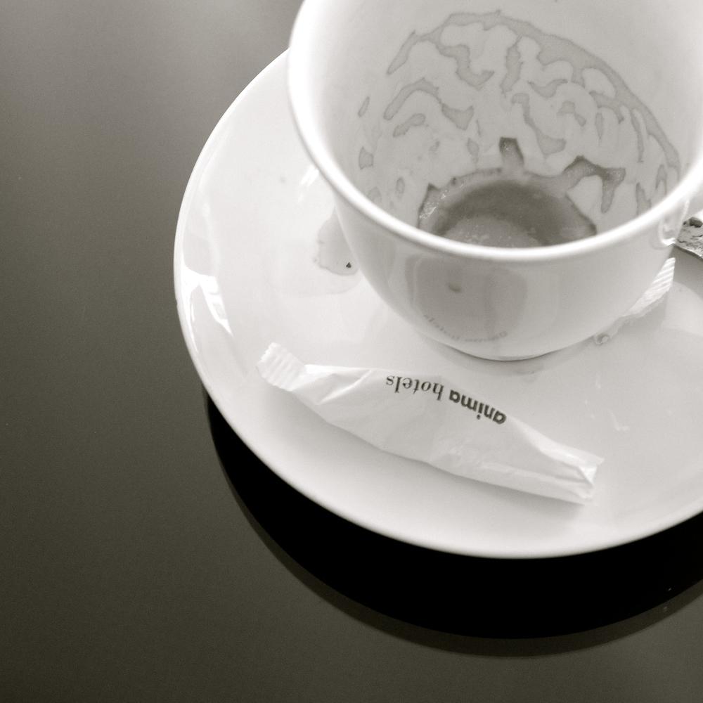 Una traza de café