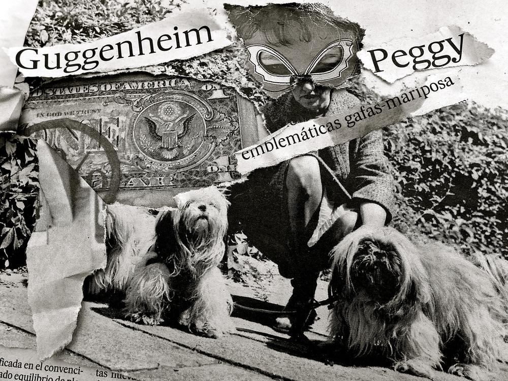 Peggy Collage Colectivo rasga y pega bn
