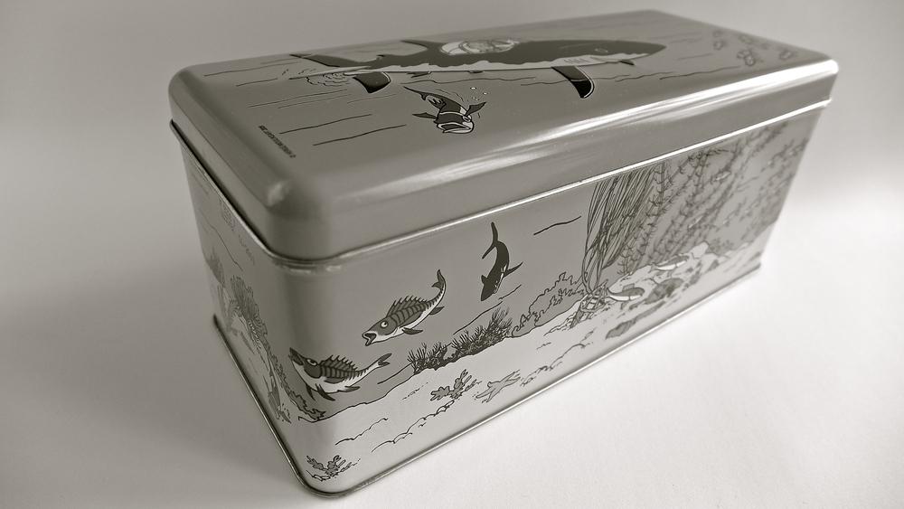 Caja peces Tintín