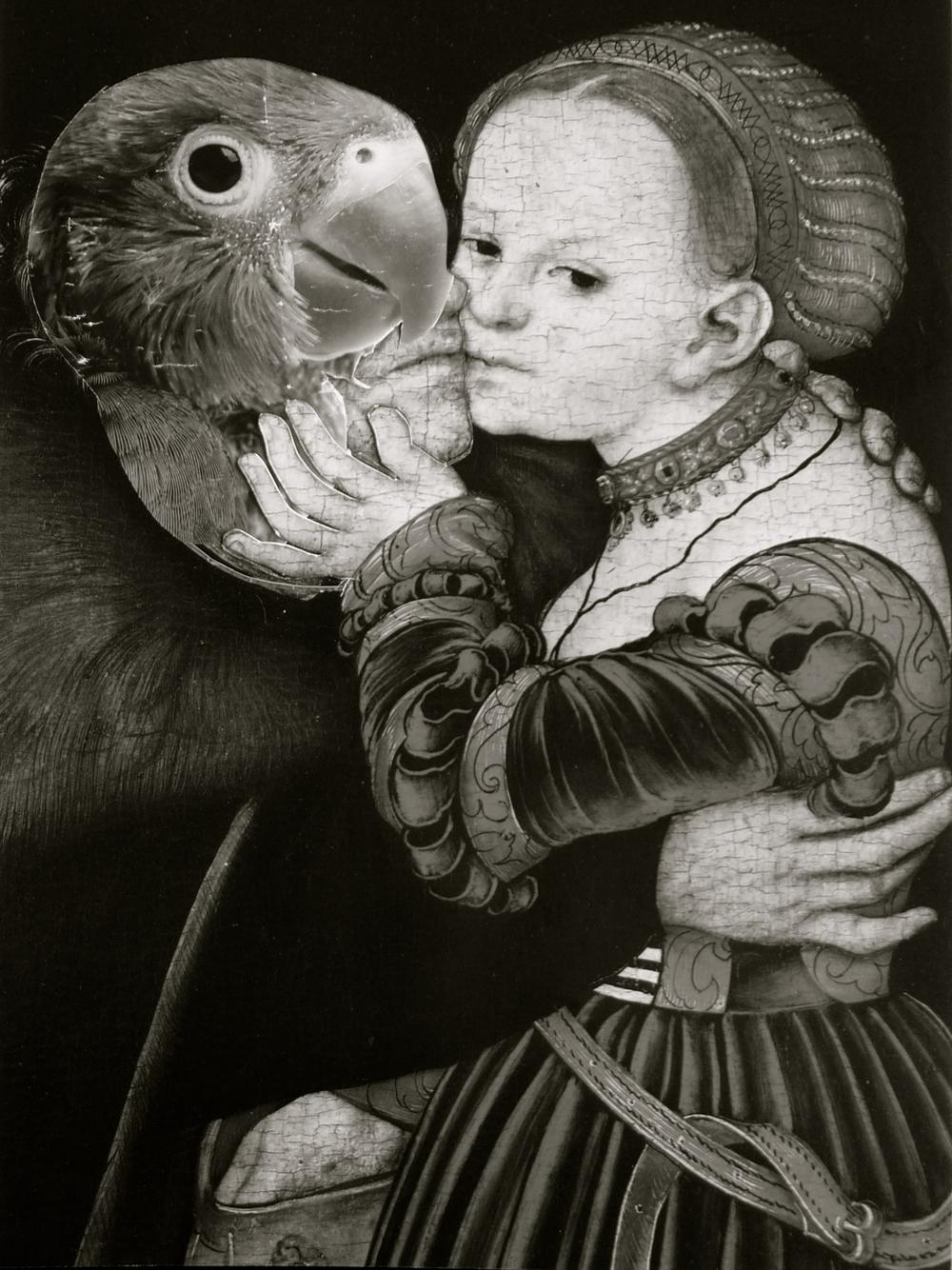 Lucas Cranacha collage loro viejo ladrona - 07