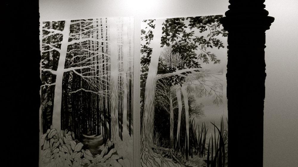 Círculo de tiza Sylvia Pennings Escenas del bosque