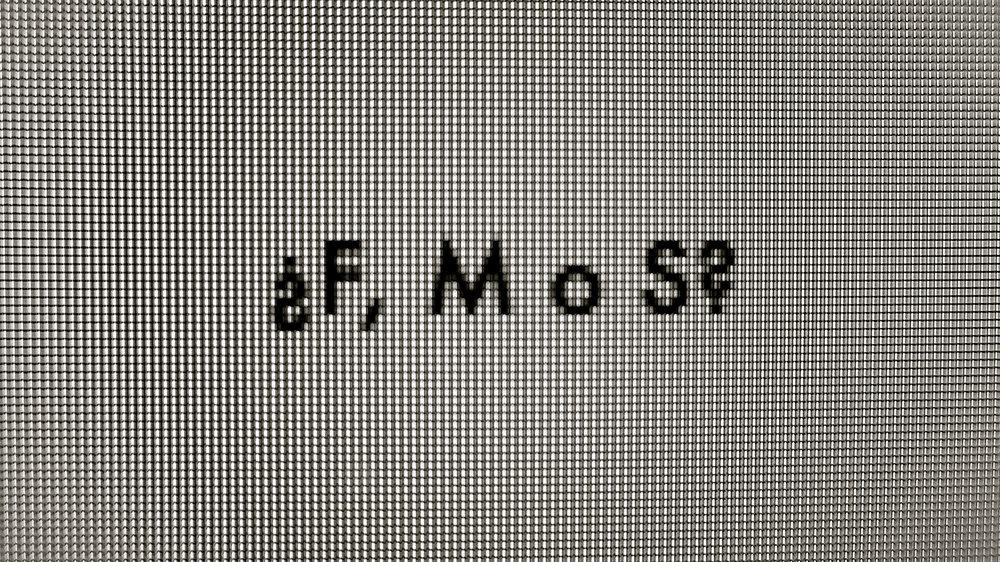 ¿F, M o S?