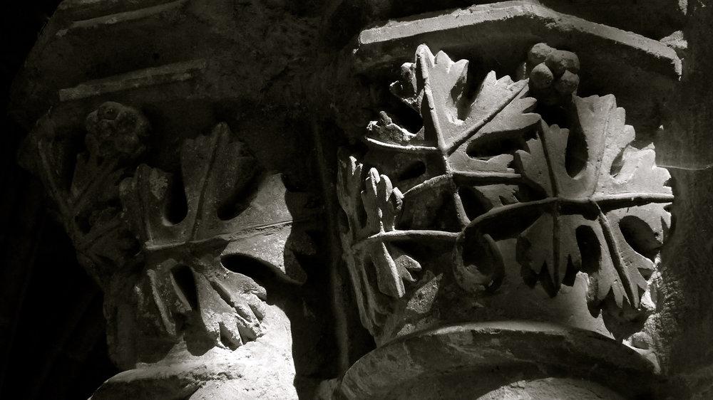 Capiteles claustro Veruela