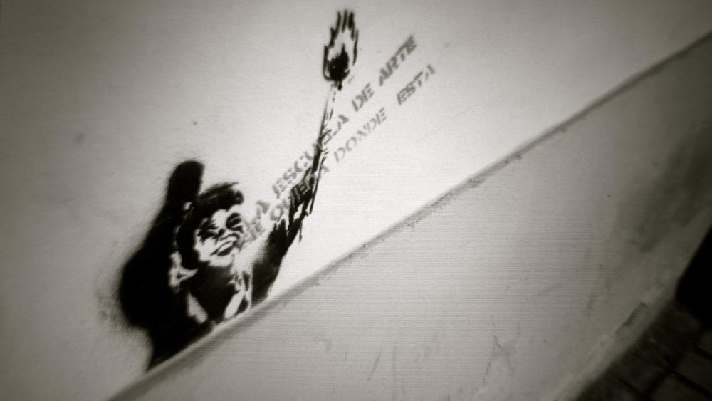 Graffiti La Escuela de Arte