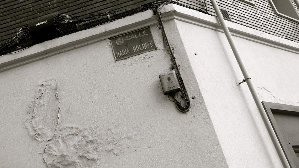 Calle María Moliner señal
