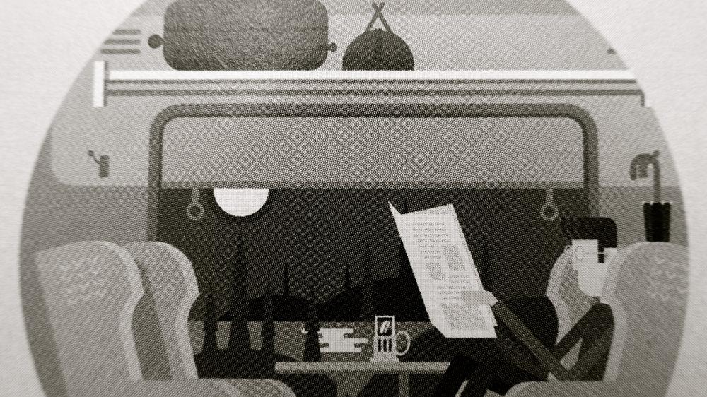 Tren ilustración Dmitry Kalabin jossdiim