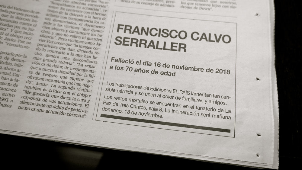 Francisco Calvo Serraller + 2018 - 1
