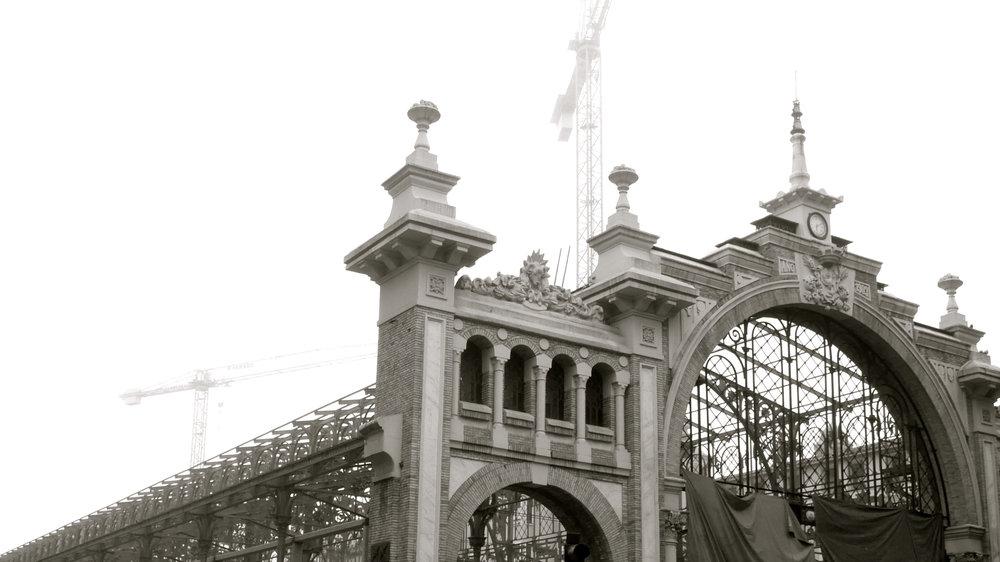 Obras Mercado Central. Niebla - 1
