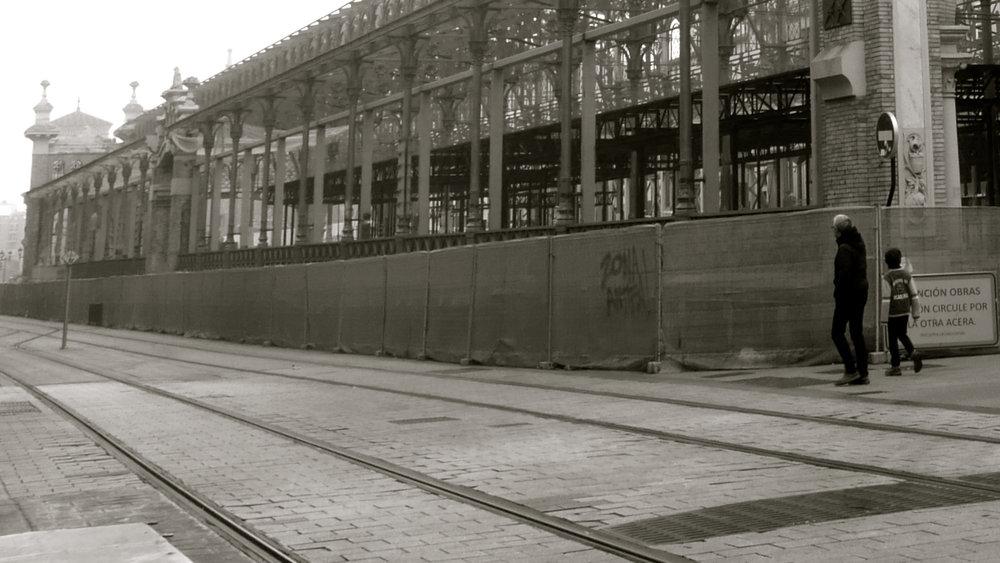 Obras Mercado Central. Niebla - 2