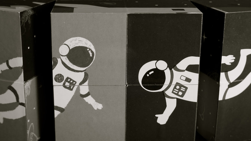 Astronautas rompecabezas articulado - 1