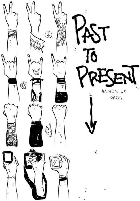 Hands at Gigs, past to present