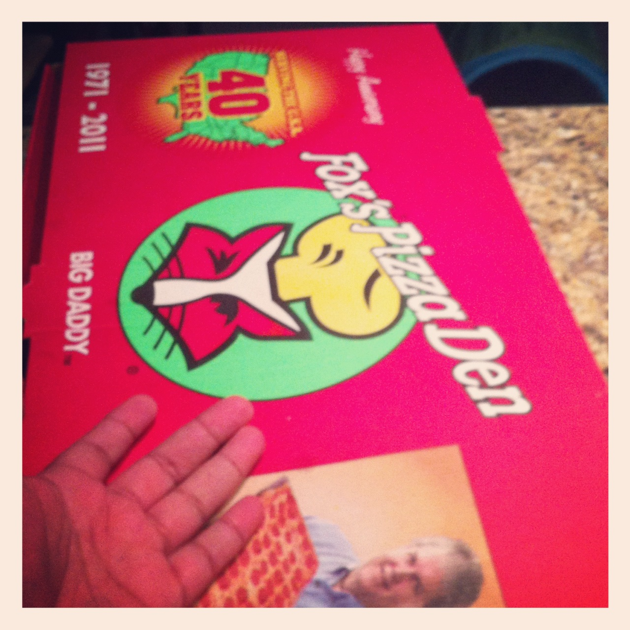 meet the pizza that's too big to fit in a fridge.  i used a coupon I found from work to pick this up tonight and I can't believe how big this thing is.