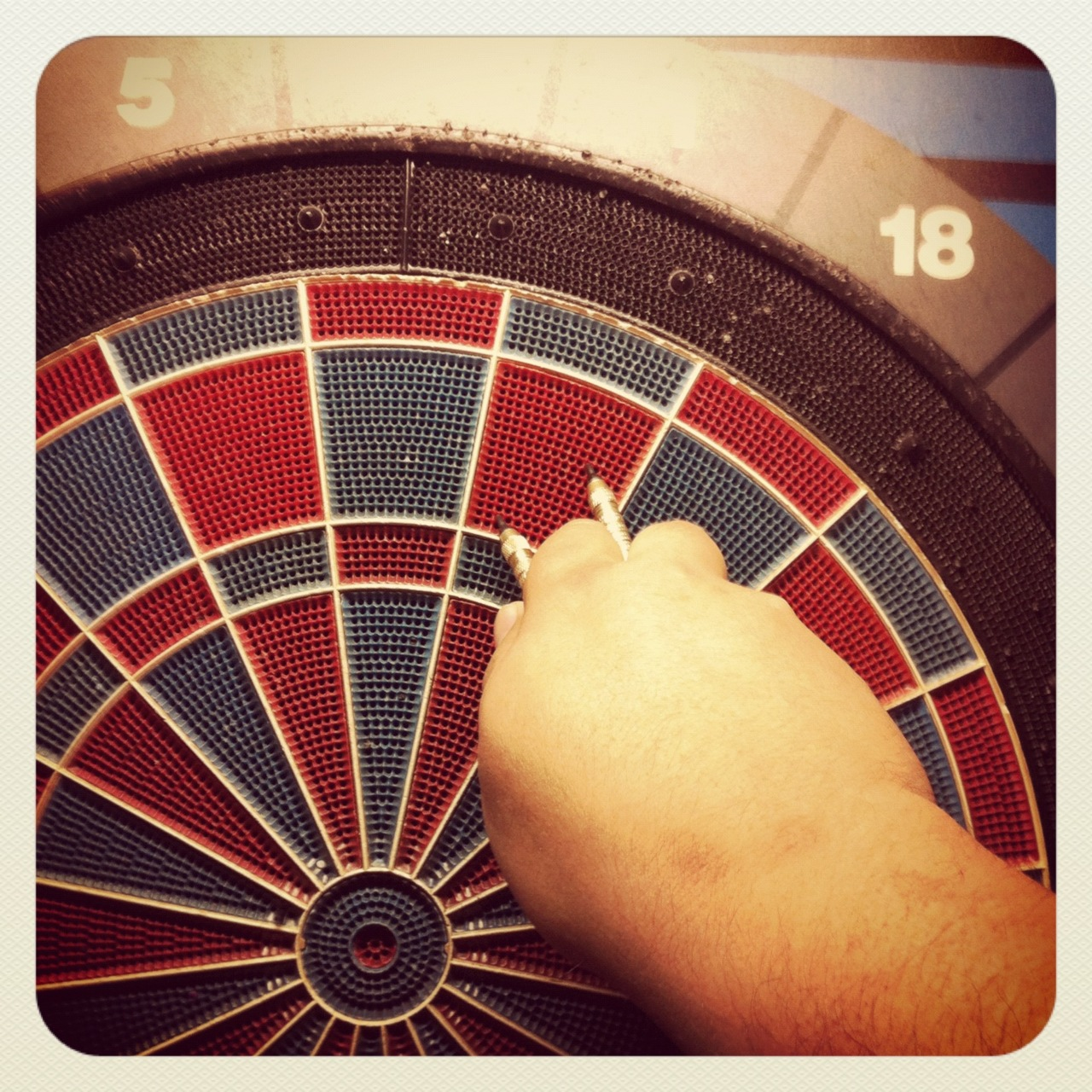 Went out for a game of darts last night with Henry and Chivo…  schooled them with such aplomb, I should have charged tuition.