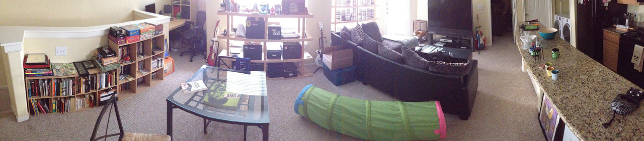Panoramic view of my entire apartment…