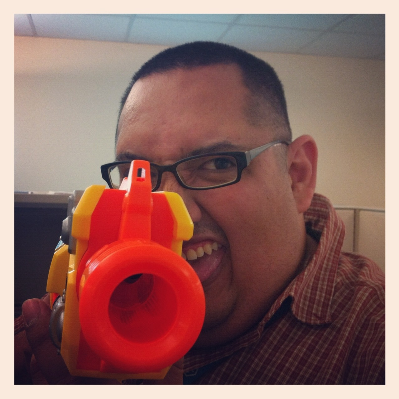 With both my work week and my time with METC at FT. Sam Houston coming to a close… I decided to bring the NERF gun into work today and lit up a couple of co-workers.   There's talk of a NERF war between 6AM and 7AM tomorrow before we start the work day.  More on this tomorrow…