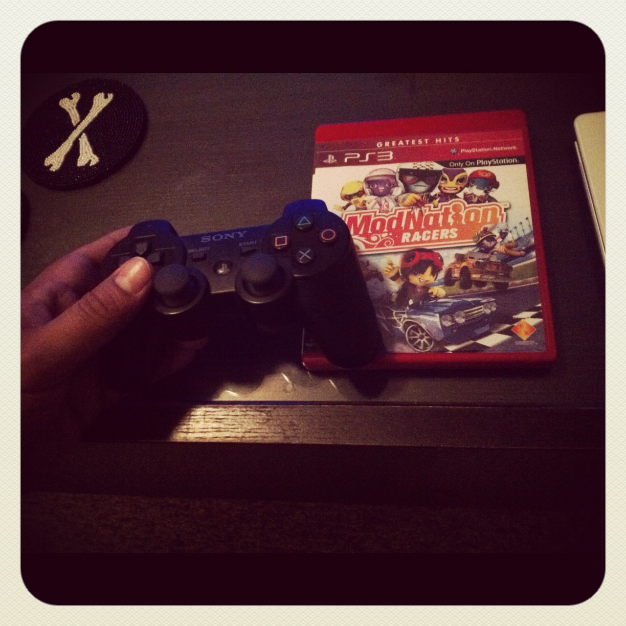 With the week coming to a close, Friday night turned out to be a quiet night in.  Took in some time playing a video game I've been playing a lot lately called : Modnation Racers