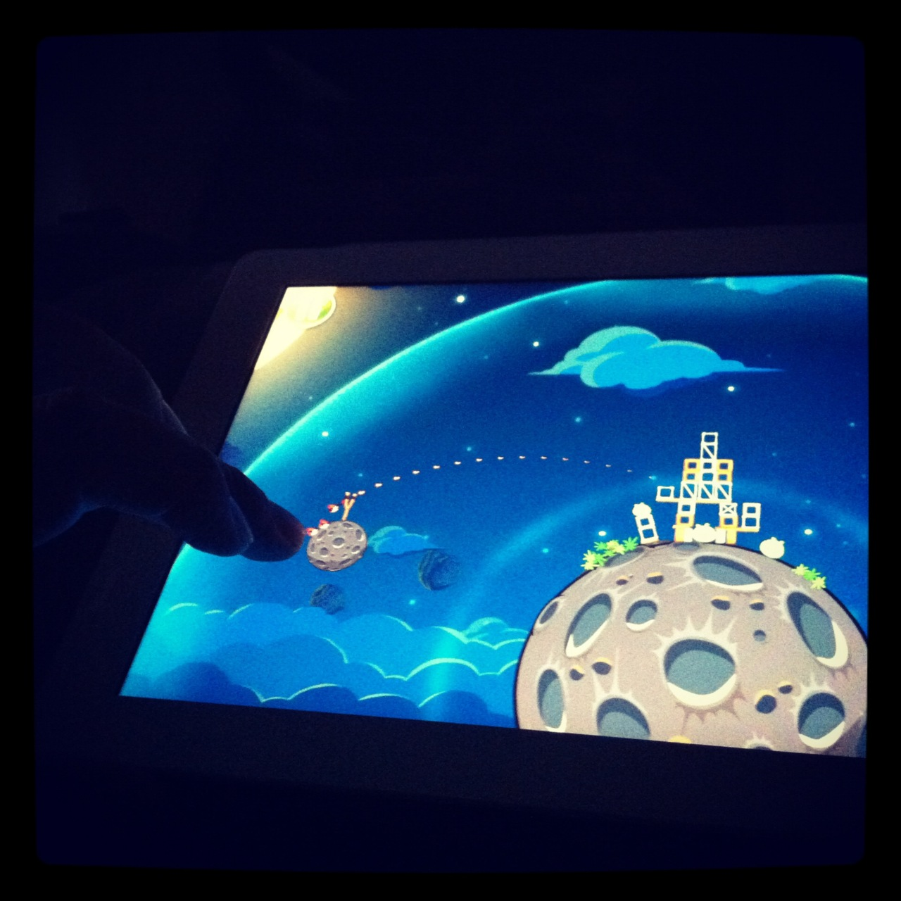 I've sorta stayed away from the Angry Bird craze in recent years, but opted to download and play Birds/Space because it seemed like a good game for the iPad. It is by the way.