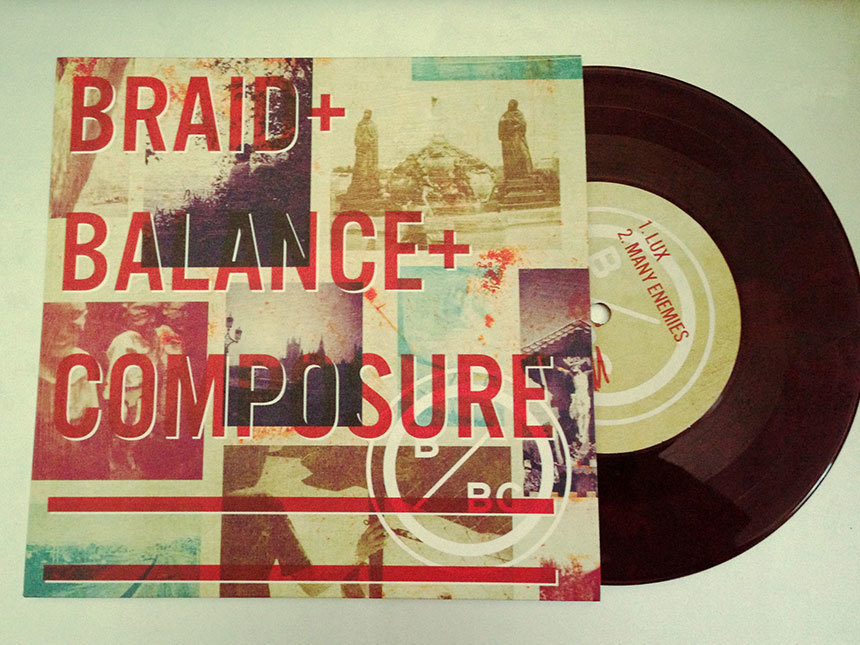 "After a rather lengthy wait, I finally got my Braid split 7"" record w/Balance Composure."