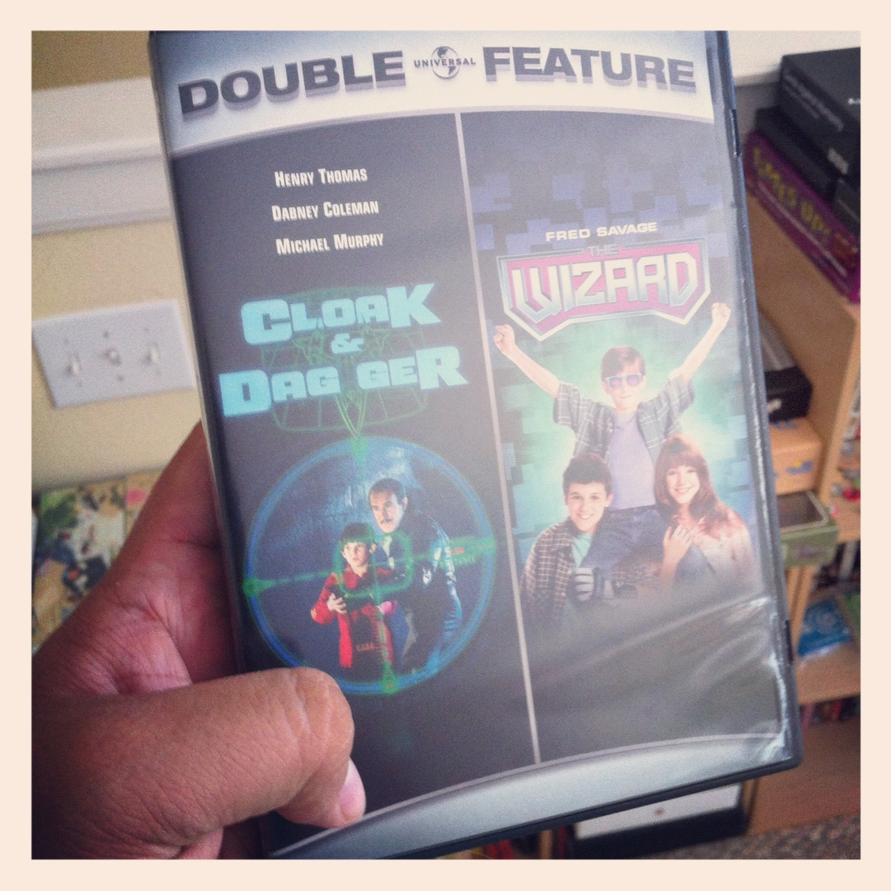 "While out running errands with Ted, I picked up a copy of CLOAK & DAGGER on DVD.  The only catch however was that I had to also own ""The Wizard"" because it was a part of a ""double feature"".   Ted had never seen or heard of Cloak and Dagger and I wanted to own it because San Antonio serves as a backdrop in the movie…"