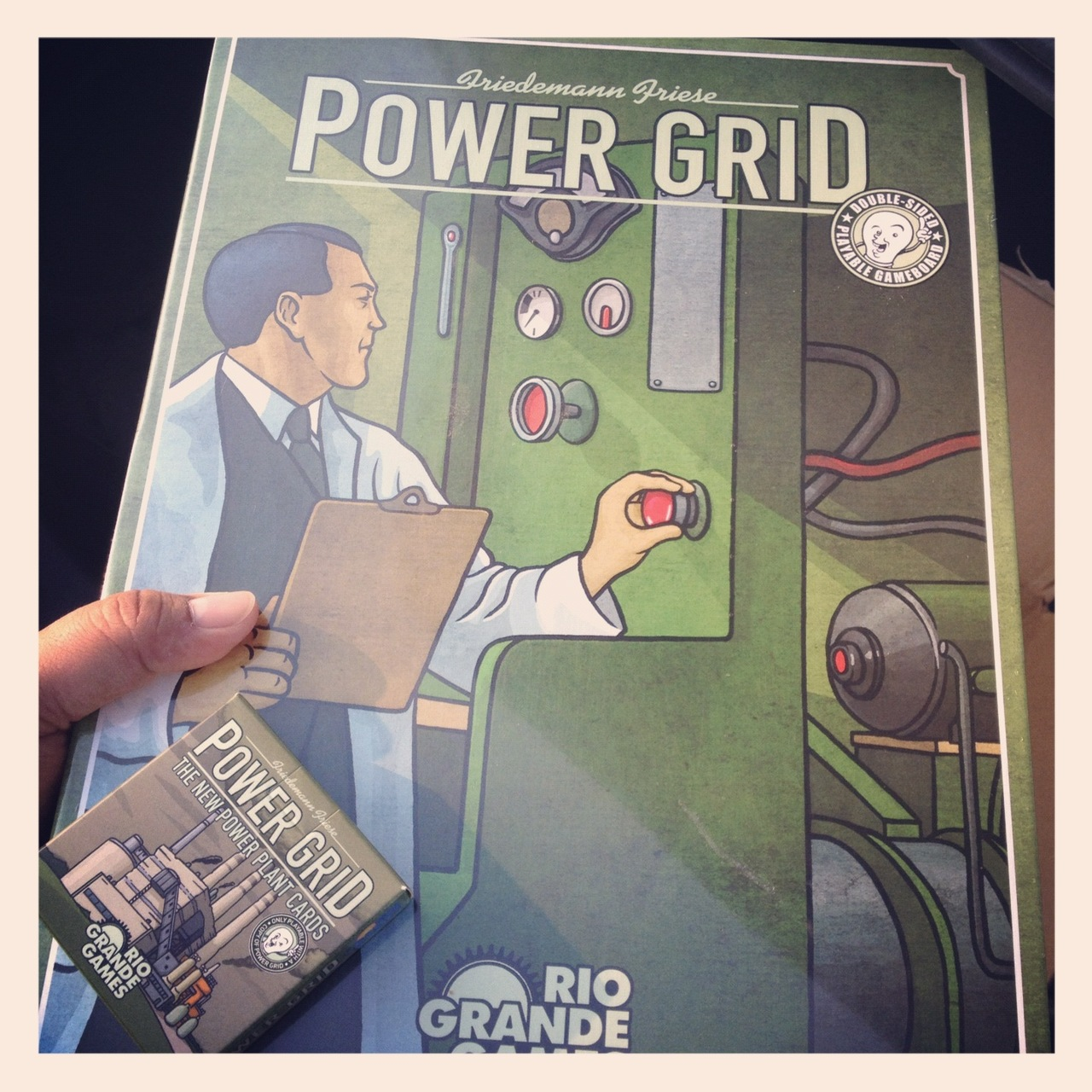 After years of putting off this purchase, I've finally gotten around to picking up a copy of Power Grid. A game, I've only played once but it left an amazing impression on me.  My friend Ted will be in town in a few days and I hope to get him to read the instructions before his visit so that we can play it with some friends I plan to have over on Saturday.