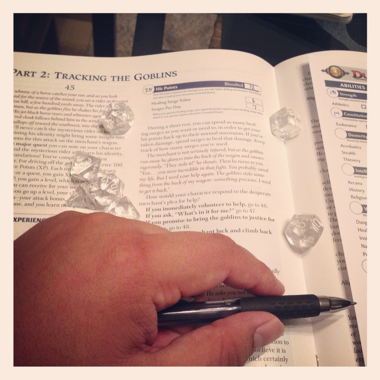 "Ya' know… when the holiday break started on Thursday, I said to myself - ""self. you're going to read the shit out of this D&D starter guide"".   It's not Sunday evening and I'm just getting around to tracking enemies.     I'm going to be so unprepared for my game next Saturday…"