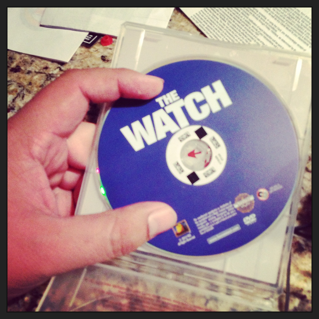 "Finally got around to watching ""the Watch""…   the Ben Stiller movie that came out sometime this summer. The movie turned out to be a little ATTACK THE BLOCK…  but not done all that entirely well.   That being said… if it didn't have aliens and an alarming amount of semen jokes (didn't see that coming either) - I think I would have stopped it half way thru."