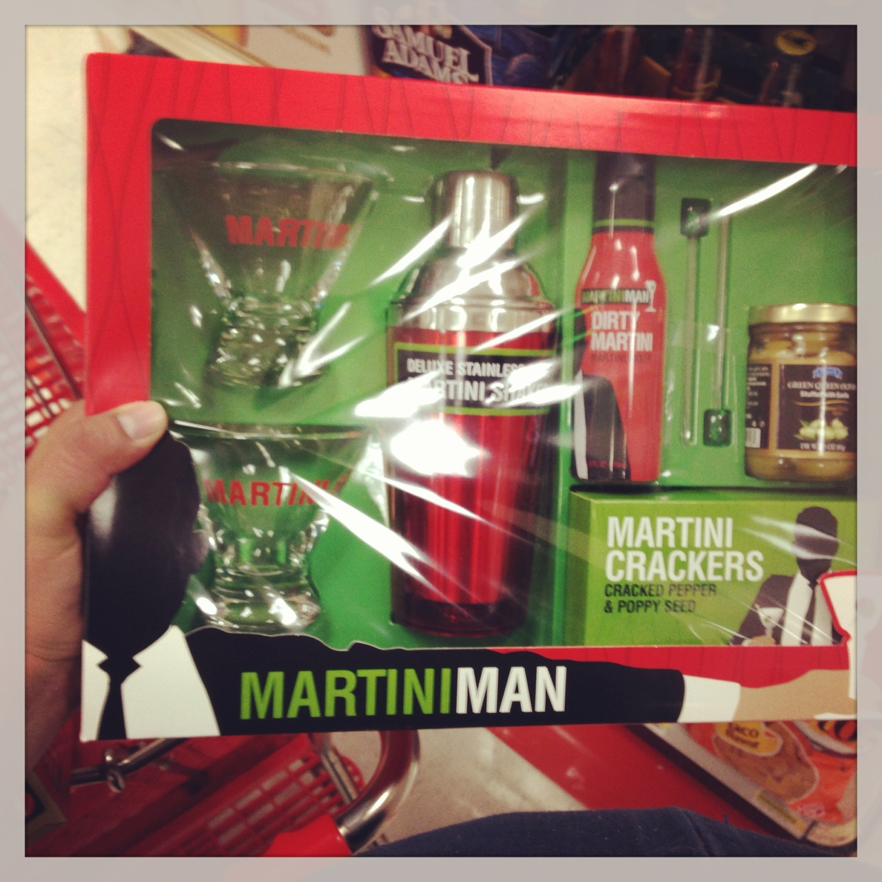 "While grabbing a 12 pack of soda for my dad this evening, I ran across this ""Martini Man"" bundle pack at Target.   An obvious play on ""Mad Men""…  but it's so incredibly shameful."