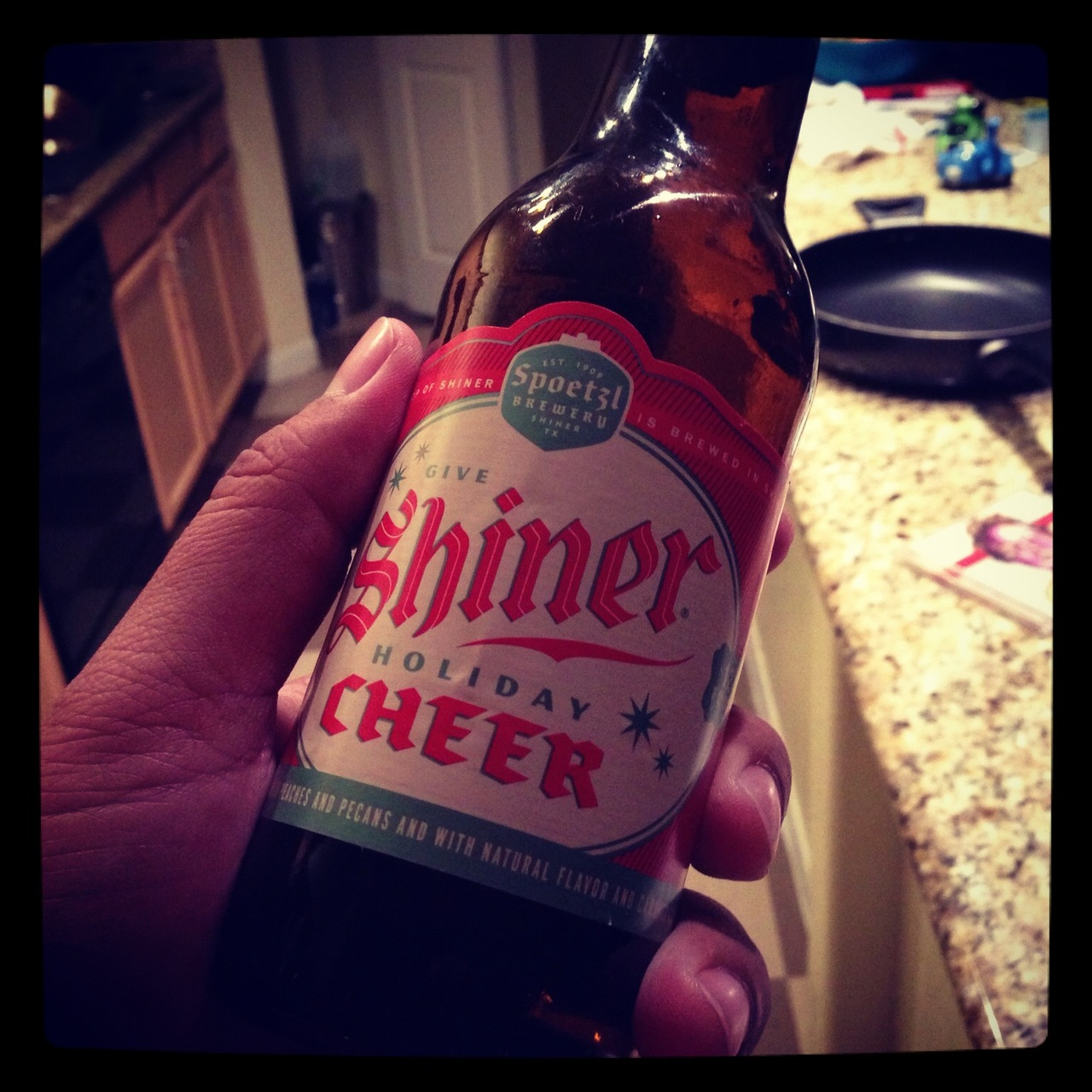 I don't really have any Thanksgiving eve traditions…  but I may start going out of my way to drown 12 Shiner CHEER Beers from here on out.   It's a sham this beer isn't available all year round.