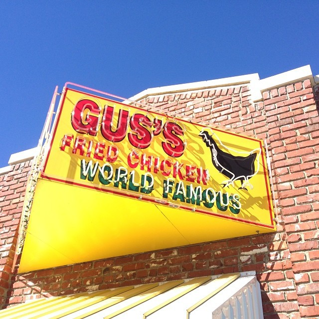 Today, I break bread at Gus's World Famous Fried Chicken.  It's dangerously close to our hotel…  Life may be seriously shortened if it lives up to its reputation. #memphismemos #eats
