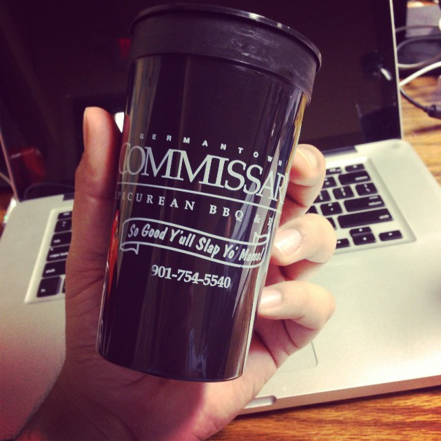 "Memphis BBQ ain't nothing to fuck with.  We were treated to the goodness that is ""Commissary"".  Their slogan brings it. #memphismemos #bbq #commissary"