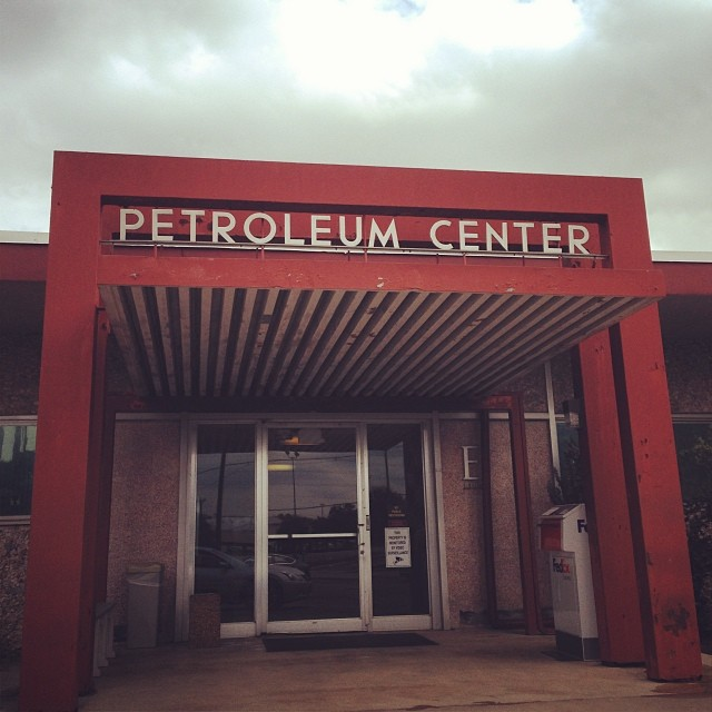 """Neutra (Neutraface) font just off Broadway & 410.  I don't know why there are so many """"Petro"""" named buildings in the area.  Example: Petroleum Club #sanantonio"""