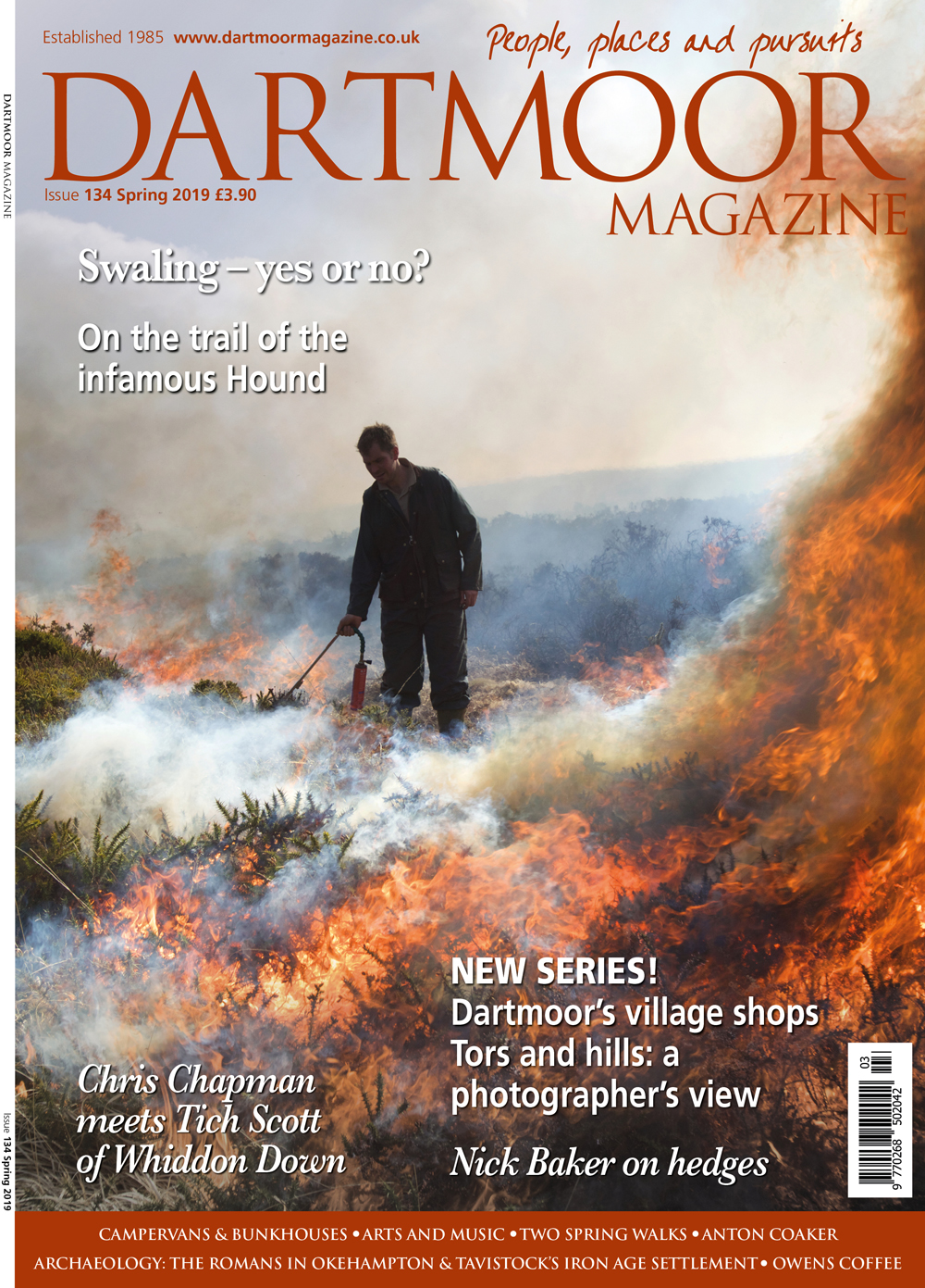 Front cover image of the March & April issue of Dartmoor Magazine
